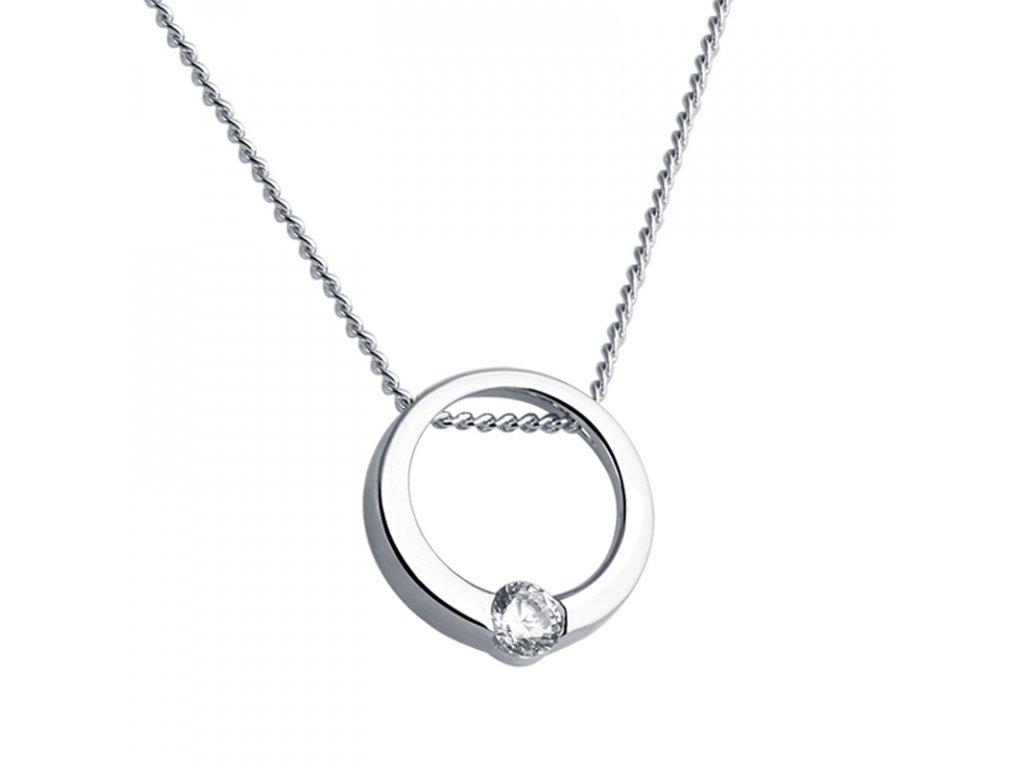 Stříbrný řetízek s prstýnkem od OLIVIE. Krásný dárek pro ženu!