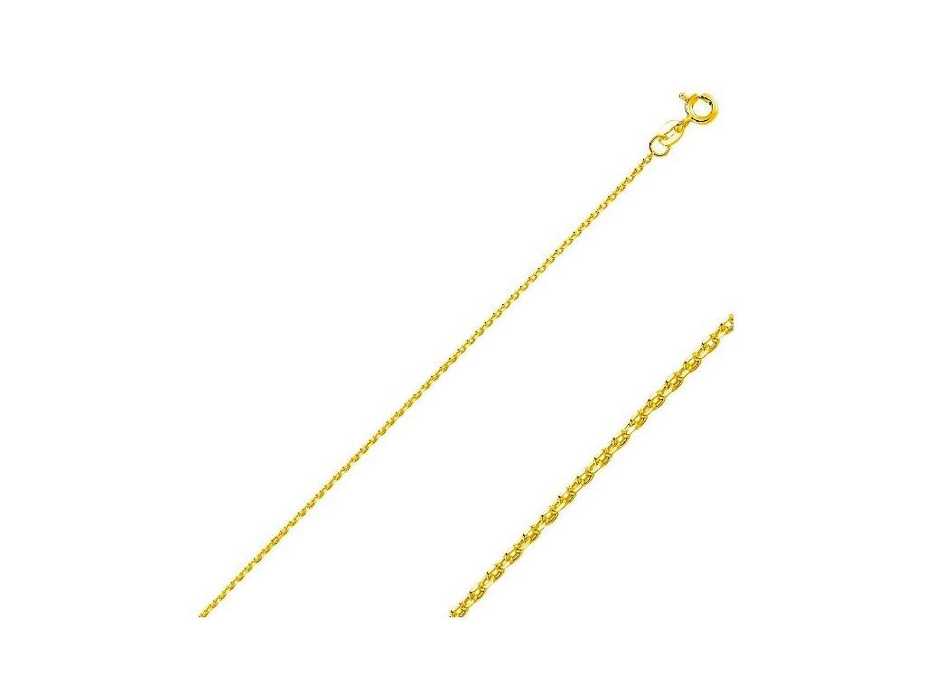 15434 stribrny retizek gold 45cm pozlaceny tmavsi