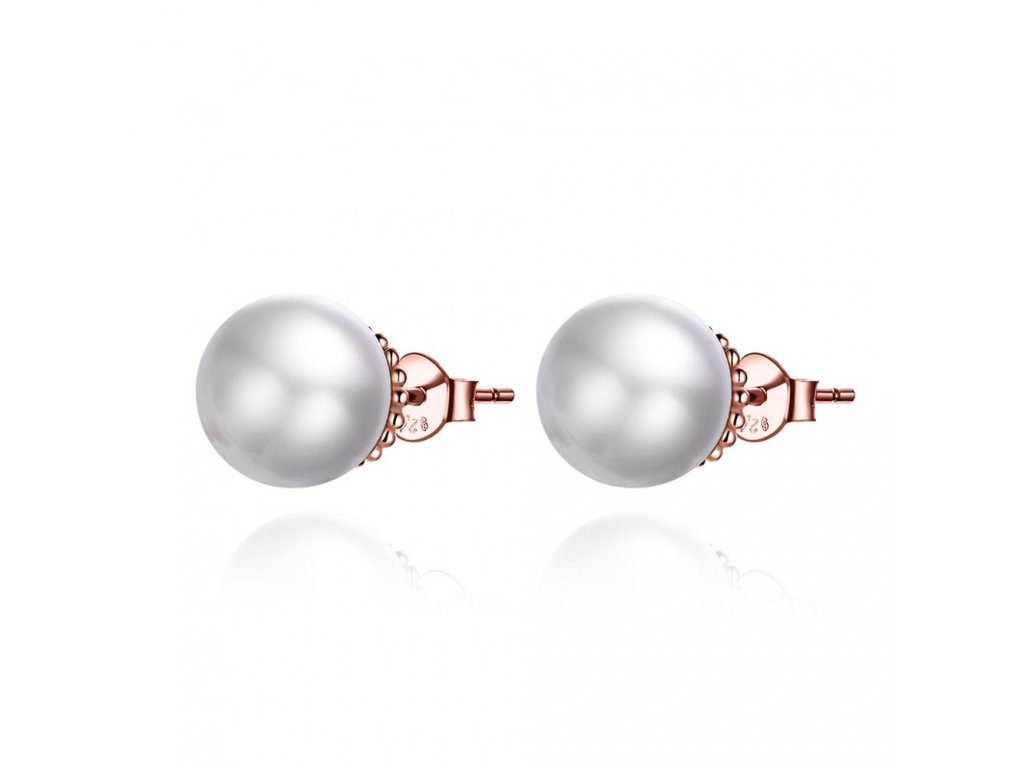 15692 4 stribrne ruzove nausnice perla od olivie