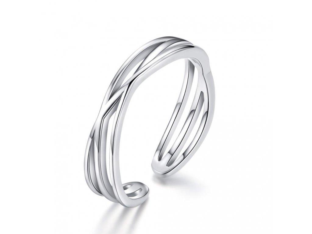 16736 nastavitelny stribrny prsten od olivie