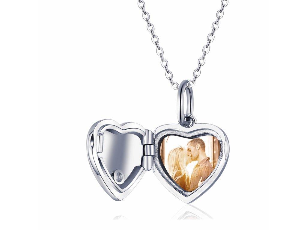 18211 stribrny oteviraci medailon srdce forever do ktereho lze vlozit fotografii koupite na olivie cz