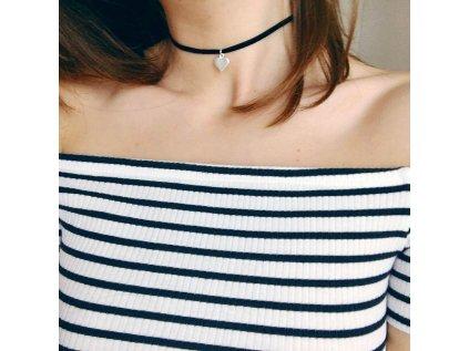 0120 Choker náhrdelník SRDCE