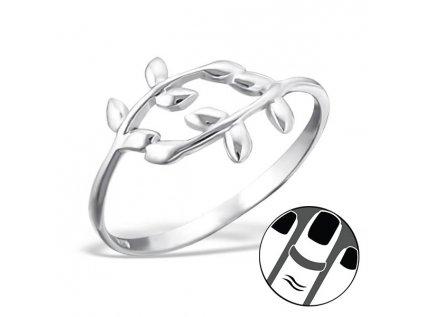 0135 Strieborný midi VETVIČKOVÝ prsteň