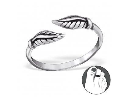 0460 Strieborný prsteň na nohu