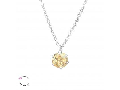 0975 Strieborný náhrdelník s kryštálom Swarovski