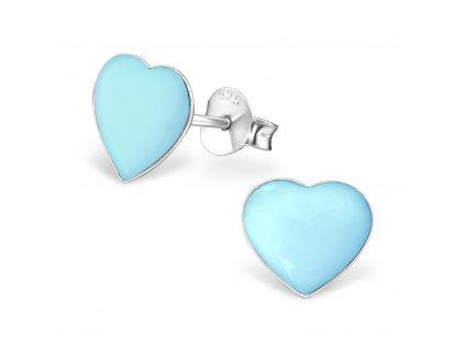 1014 Strieborné náušnice s perleťou BLUE