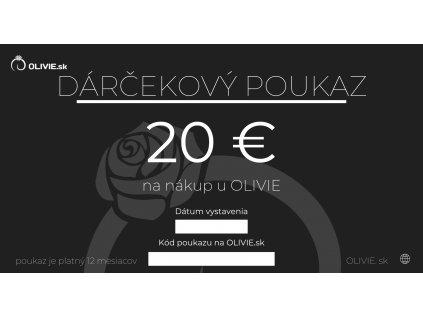 DARČEKOVÝ POUKAZ elektronický na nákup strieborných šperkov z e-shopu OLIVIE.sk