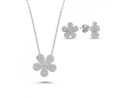 1392 Sada strieborných šperkov KVIETOK
