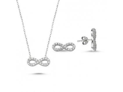 1394 Sada strieborných šperkov NEKONEČNO