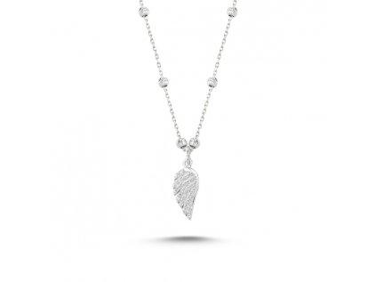 1721 Strieborný náhrdelník anjelské krídla