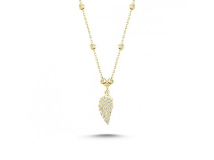 1722 Strieborný náhrdelník anjelské krídla GOLD