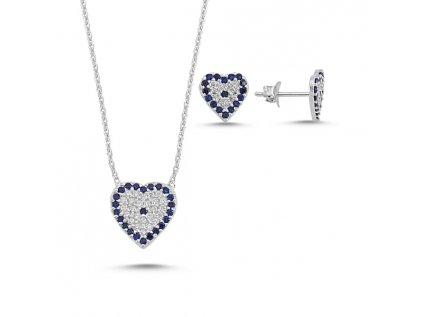 1739 Sada strieborných šperkov SRDCE