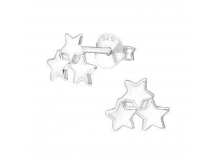 1823 Strieborné náušnice hviezdička
