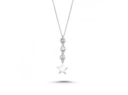 1887 Strieborný náhrdelník STAR