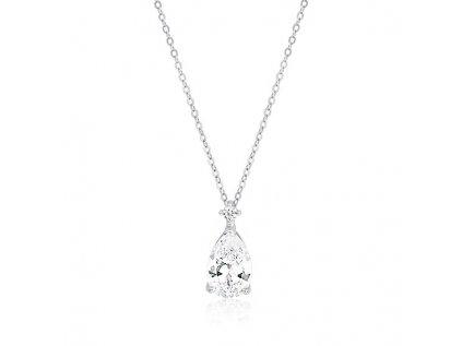 2013 Strieborný náhrdelník so zirkónom SLZA