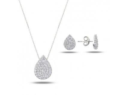 2041 Sada strieborných šperkov KVAPKA