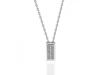 Strieborný náhrdelník so Swarovski kryštálmi