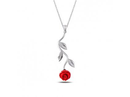 2334 Strieborný náhrdelník RUŽE