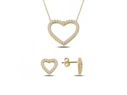 2351 Sada strieborných šperkov ZLATÉ SRDCE