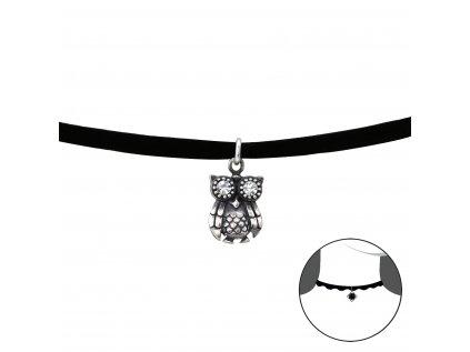 2489 Choker náhrdelník SOVA