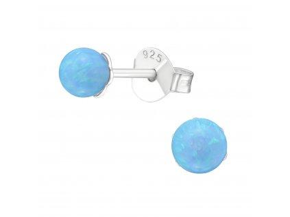 Stříbrné kuličky s opálem 4 mm