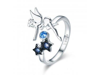 2948 Strieborný prsteň VÍLA