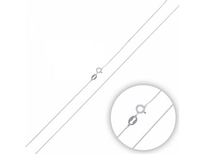 2811 Strieborná rhodiovaná retiazka HAD 45 cm