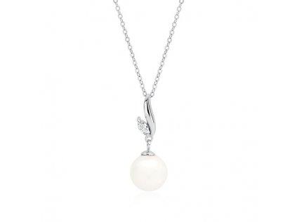 3286 Strieborná retiazka s perlou