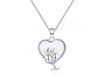 3370 Strieborný náhrdelník VEĽKÁ LÁSKA