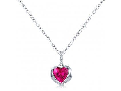 3371 Strieborný náhrdelník ANJELSKÉ SRDCE