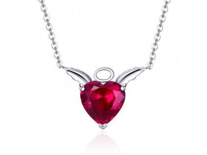 3372 Strieborný náhrdelník ANJEL a DIABOL
