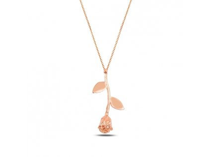 3458 Strieborný náhrdelník ROSE RUŽE