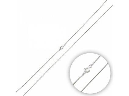 3479 Strieborná rhódiovaná 45 cm retiazka