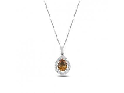 3483 Strieborný náhrdelník SULTANIT