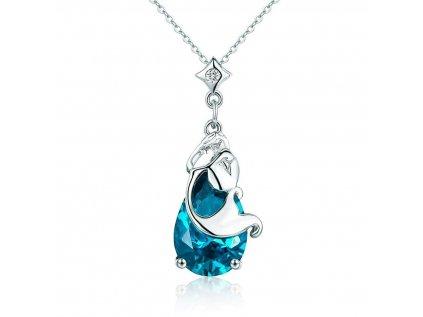 3499 Strieborný náhrdelník KVAPKA VODY