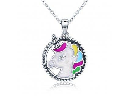 3505 Strieborný náhrdelník JEDNOROŽEC