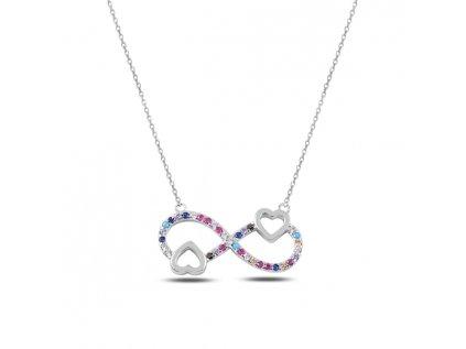 3514 Strieborný náhrdelník NEKONEČNÉ SRDCE