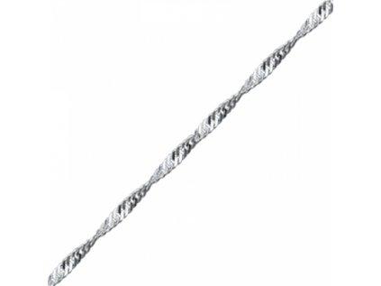 3537 Strieborná retiazka 45 cm TWIST