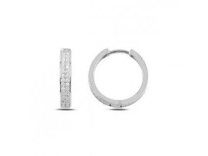 3545 Strieborné kruhy 2 cm
