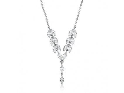 3633 Svatební strieborný náhrdelník