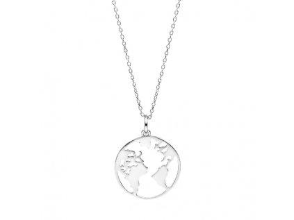 3667 Strieborný náhrdelník