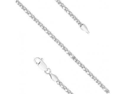 3690 Dlhý 90cm náhrdelník zo striebra