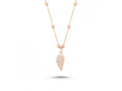 3896 Strieborný náhrdelník ANJELSKÉ KRÍDLO ROSE