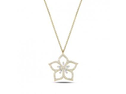 3897 Strieborný náhrdelník LOTOS GOLD
