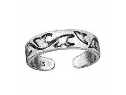 4008 Strieborný prsteň NA NOHU