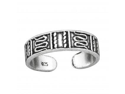 4009 Strieborný prsteň NA NOHU