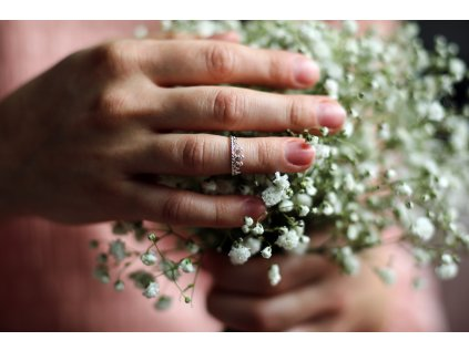 Stříbrný midi prsten KORUNKA od OLIVIE