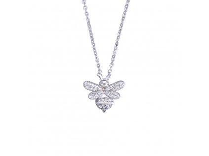 4037 Strieborný náhrdelník VČELKA