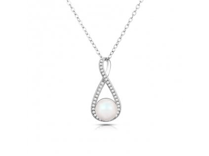 4115 Strieborný náhrdelník PERLA