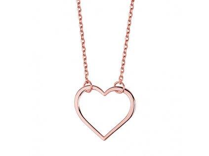 4172 Strieborný náhrdelník SRDCE ROSE
